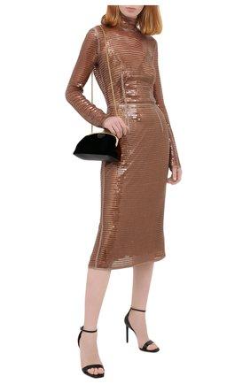 Женское платье с пайетками BURBERRY коричневого цвета, арт. 4566773 | Фото 2