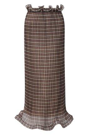 Женская юбка-миди BURBERRY коричневого цвета, арт. 4566762 | Фото 1
