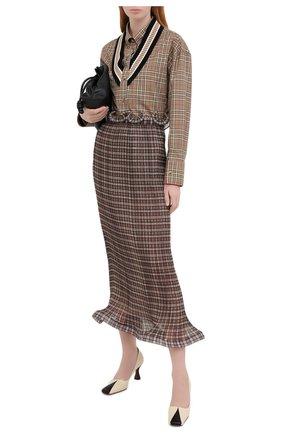 Женская юбка-миди BURBERRY коричневого цвета, арт. 4566762 | Фото 2