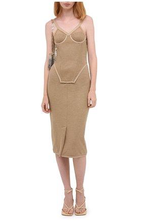 Женское кашемировое платье BURBERRY коричневого цвета, арт. 4566753 | Фото 2