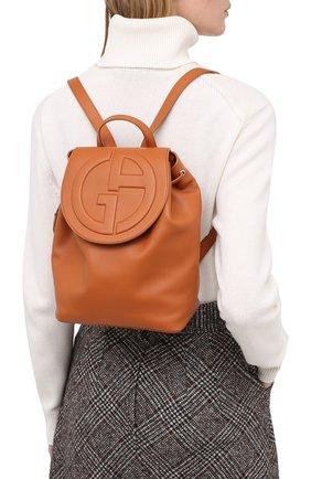 Женский рюкзак GIORGIO ARMANI коричневого цвета, арт. Y1L012/YSV4E | Фото 2