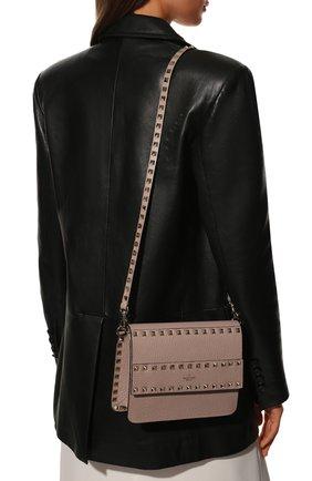 Женская сумка valentino garavani rockstud VALENTINO бежевого цвета, арт. UW2B0E86/YRK | Фото 2