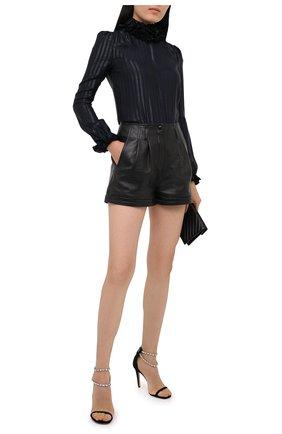 Женские текстильные босоножки ALEXANDRE VAUTHIER черного цвета, арт. KARLIESANDALFA   Фото 2