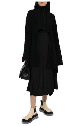 Женский шерстяной кардиган Y`S черного цвета, арт. YB-K71-146 | Фото 2