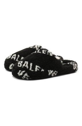Женского домашние туфли BALENCIAGA черно-белого цвета, арт. 624582/W2B40 | Фото 1