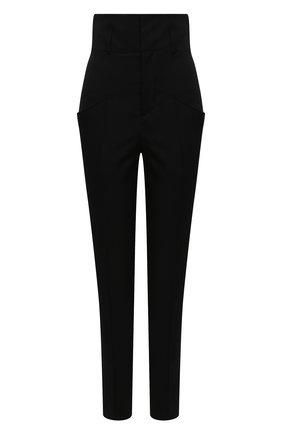 Женские шерстяные брюки ISABEL MARANT черного цвета, арт. PA1790-20H025I/PADME | Фото 1