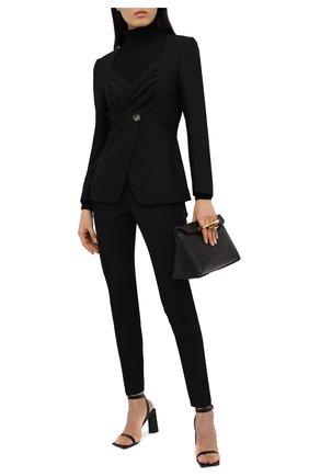 Женские шерстяные брюки ISABEL MARANT черного цвета, арт. PA1790-20H025I/PADME | Фото 2