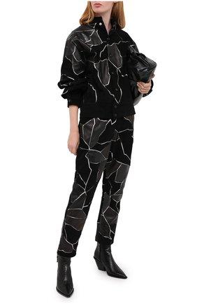 Женские кожаные брюки ISABEL MARANT черного цвета, арт. PA1815-20H049I/MAEK0 | Фото 2