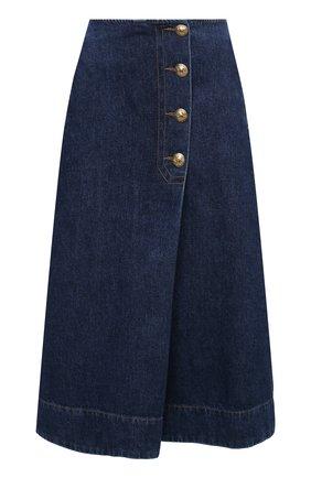 Женская джинсовая юбка WALES BONNER синего цвета, арт. WA20DE05-DEN401D-570 | Фото 1