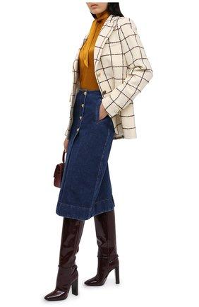Женская джинсовая юбка WALES BONNER синего цвета, арт. WA20DE05-DEN401D-570 | Фото 2
