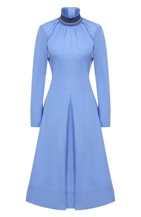 Женское хлопковое платье WALES BONNER голубого цвета, арт. WA20DR02-P0P400B-420 | Фото 1