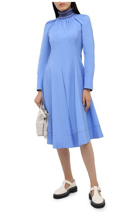 Женское хлопковое платье WALES BONNER голубого цвета, арт. WA20DR02-P0P400B-420 | Фото 2