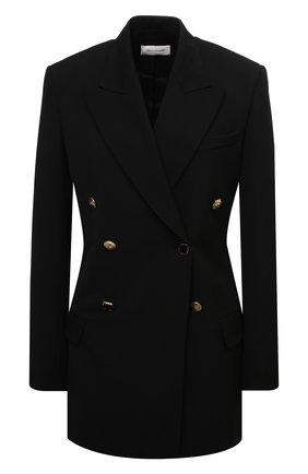 Женский шерстяной жакет WALES BONNER черного цвета, арт. WA20TJ01-GDP100C-999 | Фото 1