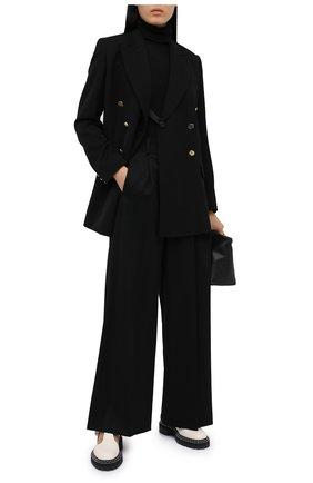 Женский шерстяной жакет WALES BONNER черного цвета, арт. WA20TJ01-GDP100C-999 | Фото 2