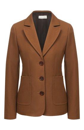 Женский жакет WALES BONNER коричневого цвета, арт. WA20TJ02-DRI600F-800 | Фото 1
