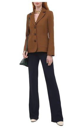 Женский жакет WALES BONNER коричневого цвета, арт. WA20TJ02-DRI600F-800 | Фото 2