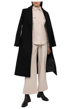 Женская кожаная рубашка TWINS FLORENCE кремвого цвета, арт. TWFAI20CAM0004 | Фото 2