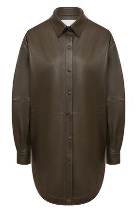 Женская кожаная рубашка TWINS FLORENCE хаки цвета, арт. TWFAI20CAM0007 | Фото 1