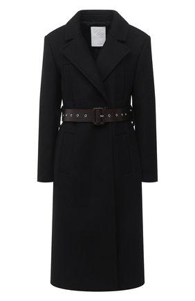 Женское шерстяное пальто TWINS FLORENCE черного цвета, арт. TWFAI20CAP0001C | Фото 1