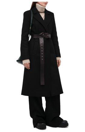 Женское шерстяное пальто TWINS FLORENCE черного цвета, арт. TWFAI20CAP0001C | Фото 2