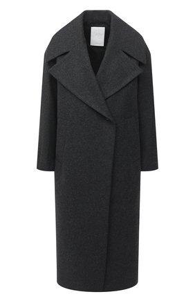 Женское шерстяное пальто TWINS FLORENCE темно-серого цвета, арт. TWFAI20CAP0004   Фото 1