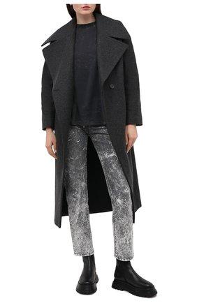 Женское шерстяное пальто TWINS FLORENCE темно-серого цвета, арт. TWFAI20CAP0004   Фото 2