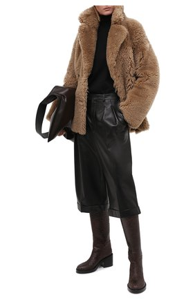 Женская шуба из овчины ENES светло-коричневого цвета, арт. BEA/MERINILL0 RIZANILL0 | Фото 2