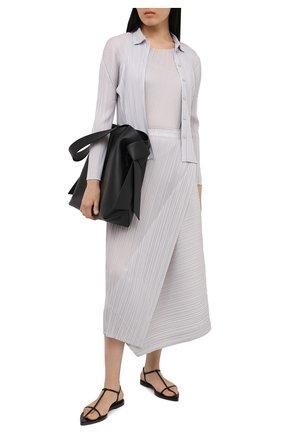 Женская рубашка ISSEY MIYAKE светло-серого цвета, арт. PP08-JJ105   Фото 2