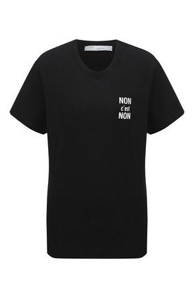 Женская хлопковая футболка IRO черного цвета, арт. WP19N0N0N | Фото 1