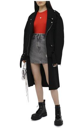 Женская джинсовая юбка IRO серого цвета, арт. WM31SAHEL | Фото 2