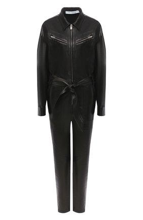 Женский кожаный комбинезон IRO черного цвета, арт. WM28HUNDY | Фото 1