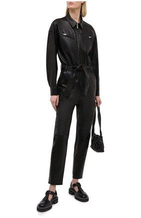 Женский кожаный комбинезон IRO черного цвета, арт. WM28HUNDY | Фото 2