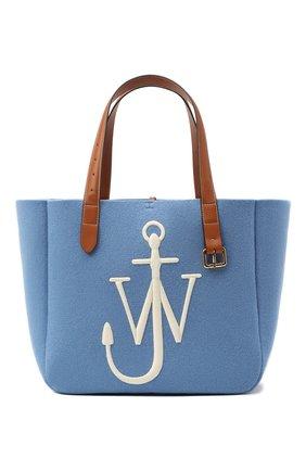 Женский сумка-тоут belt J.W. ANDERSON голубого цвета, арт. HB0243 FA0029 | Фото 1