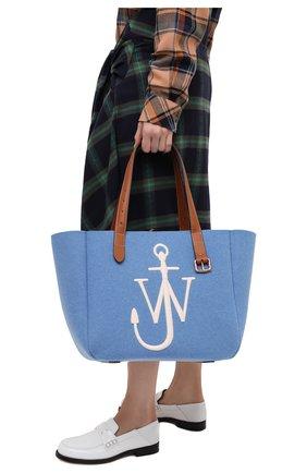 Женский сумка-тоут belt J.W. ANDERSON голубого цвета, арт. HB0243 FA0029 | Фото 2