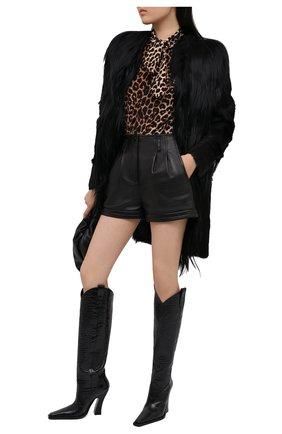 Женские кожаные сапоги TOM FORD черного цвета, арт. W2786N-LCL125 | Фото 2