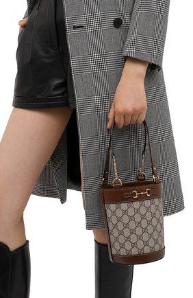 Женская сумка 1955 horsebit GUCCI коричневого цвета, арт. 637115/92TPG | Фото 2