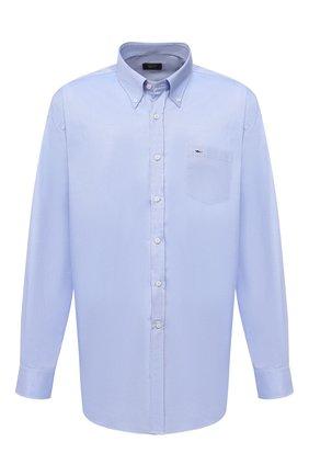 Мужская хлопковая рубашка PAUL&SHARK синего цвета, арт. C0P3000/C00/48-50   Фото 1
