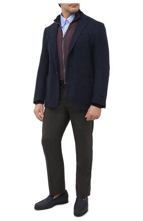 Мужская хлопковая рубашка PAUL&SHARK синего цвета, арт. C0P3000/C00/48-50   Фото 2