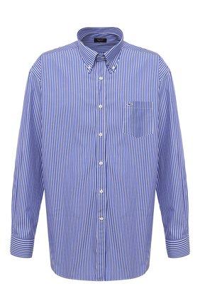 Мужская хлопковая рубашка PAUL&SHARK синего цвета, арт. C0P3005/C00/48-50   Фото 1