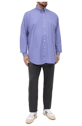 Мужская хлопковая рубашка PAUL&SHARK синего цвета, арт. C0P3005/C00/48-50   Фото 2