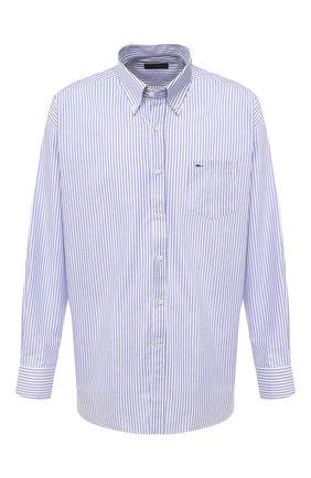 Мужская хлопковая рубашка PAUL&SHARK белого цвета, арт. C0P3006/C00/48-50   Фото 1