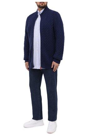 Мужская хлопковая рубашка PAUL&SHARK белого цвета, арт. C0P3006/C00/48-50   Фото 2