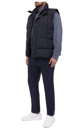 Мужской пуховый жилет PAUL&SHARK темно-синего цвета, арт. I20P2021/HRS/3XL-6XL | Фото 2