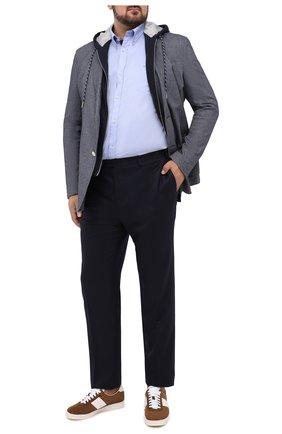 Мужская хлопковая сорочка PAUL&SHARK голубого цвета, арт. I20P3011/C00/48-50   Фото 2