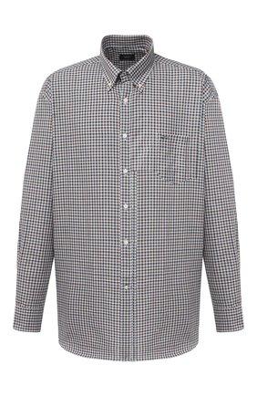 Мужская хлопковая рубашка PAUL&SHARK коричневого цвета, арт. I20P3055/C00/48-50 | Фото 1