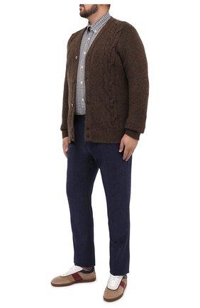Мужская хлопковая рубашка PAUL&SHARK коричневого цвета, арт. I20P3055/C00/48-50 | Фото 2