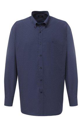 Мужская хлопковая рубашка PAUL&SHARK темно-синего цвета, арт. I20P3087/C00/48-50   Фото 1