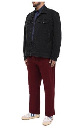 Мужская хлопковая рубашка PAUL&SHARK темно-синего цвета, арт. I20P3087/C00/48-50   Фото 2