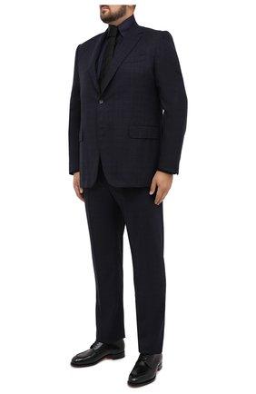 Мужская сорочка из кашемира и шелка ZILLI темно-синего цвета, арт. MFU-00503-87060/0001/45-49   Фото 2