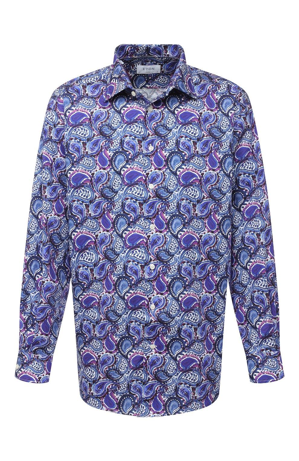 Мужская хлопковая рубашка ETON синего цвета, арт. 1000 01440 | Фото 1